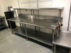 "8' X 30"" EAGLE STAINLESS STEEL TABLE, W/ EDLUND CAN OPENER"