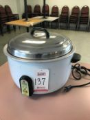 RICEMASTER ELECTRIC 55 CUP COMMERCIAL RICE COOKER, MODEL 57155