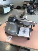 HOBART MEAT SLICER, MODEL 2612, 1/2 HP MOTOR, 120 VOLT, SINGLE PHASE, S/N 63-1014-381