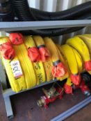 "LOT - (8) 2-1/2"" FIRE HOSES: (5) 100' AND (3) 50' (LOCATION: FLEX CONTAINER)"
