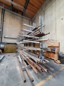 CANTILEVER MATERIAL RACK, 17' X 15'HT, 5' ARMS, CONTENTS NOT INCLUDED