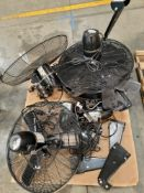 LOT - PALLET OF INDUSTRIAL WALL FANS, NEW