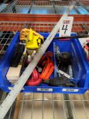 LOT - MISC HARDWARE ITEMS: DREMEL ENGRAVER, BRASS SHIM STOCK, WIRE WHEELS, SHIMS, MISC DRILL BITS,