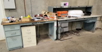 LOT - (2) WORKBENCHES, 6' X 8'