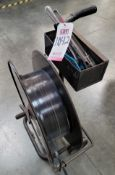 LOT - BANDING CART, W/ TOOLS, POLY STRAPPING