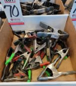 LOT - ASSORTED SPRING CLAMPS