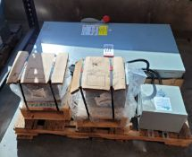 LOT - (3) ACME ELECTRIC T2A533081S DRY TYPE TRANSFORMERS, 3 KVA AND (1) 400A/600V SAFETY SWITCH