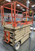 JLG 3246E2 ELECTRIC SCISSOR LIFT, 32' ELEVATED HEIGHT, APPROX. 8,700 HOURS (DELAYED PICKUP UNTIL