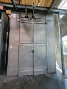 "PARKER IONICS BATCH TYPE DRY-OFF AND CURE OVEN, 34' X 6'-4"" X 12'-8""HT I.D. (THIS LOT IS PART OF"