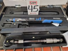 LOT - (1) WESTWARD 4RYL2 DIGITAL TORQUE WRENCH AND (1) PITTSBURGH CLICK-TYPE TORQUE WRENCH