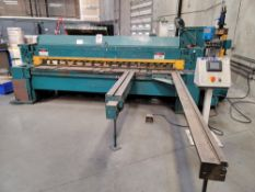 "WYSONG 1025 1/4"" X 10' MECHANICAL SQUARING SHEAR, S/N P37-854, PROGRAMMABLE GAUGE CONTROL, 60"" FRONT"