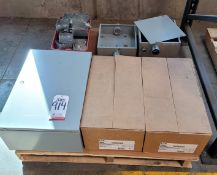 LOT - (2) 100A/600V SAFETY SWITCHES, ELECTRICAL BOXES, ETC.