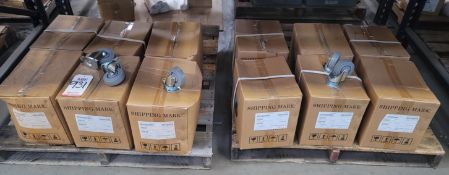 LOT - (12) CASES OF CASTERS, APPROX. 30/CASE