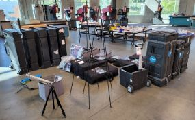 LOT - TRADESHOW BOOTH EQUIPMENT AND ACCESSORIES
