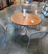 LOT - (2) 4' ROUND PATIO LUNCH TABLES, W/ CHAIRS