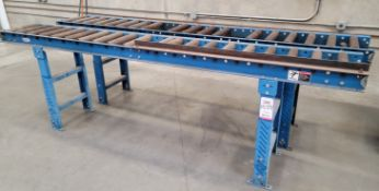 """LOT - (2) LEWCO 10' SECTIONS OF 14"""" ROLLER CONVEYOR ON 6"""" CENTERS"""