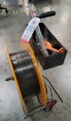 LOT - ULINE BANDING CART, W/ TOOLS, POLY STRAPPING