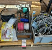 LOT - ELECTRIC WIRE, CONDUIT, CONNECTORS, ETC.