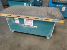 2012 DYNABRADE DOWNDRAFT TABLE, MODEL 64700, 115V, SINGLE PHASE, S/N 3606, ON CASTERS, OUT OF