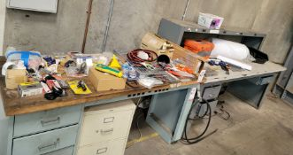 LOT - CONTENTS ONLY OF (2) WORKBENCH TOPS