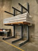 """CANTILEVER MATERIAL RACK, 8'-6"""" X 15'HT, 5' ARMS, CONTENTS NOT INCLUDED"""