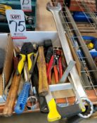 """LOT - MISC HAND TOOLS: PROTO 2"""" COMBINATION WRENCH, CK TOOLS 95001 AUTOMATIC WIRE STRIPPER, ETC."""
