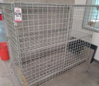 WIRE CAGE, LOCKABLE, 6' X 3' X 5'HT