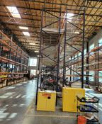 LOT - (15) SECTIONS OF PALLET RACK, 10' BEAMS, 20' UPRIGHTS, CONTENTS NOT INCLUDED