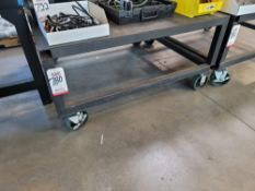 HEAVY DUTY STEEL CART, 4' X 4' X 2' TOP HEIGHT, CONTENTS NOT INCLUDED