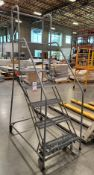 """ULINE EASY 50 ROLLING STOCK LADDER, 50"""" TOP STEP"""