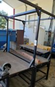 LOT - (2) STEEL ASSEMBLY BENCHES
