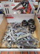 LOT - ASSORTED COMBINATION WRENCHES AND (3) IMPACT SOCKETS
