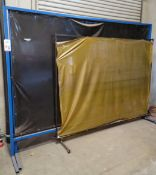 LOT - (3) WELDING CURTAIN PARTITIONS