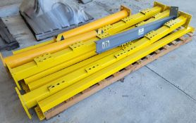 """LOT - (8) HEAVY DUTY STEEL BARRIER POLES, 5-1/2"""" DIA X 4' AND OTHER MISC BARRIER TO SAFEGUARD"""