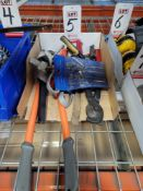 """LOT - 24"""" BOLT CUTTER, STRAP WRENCHES, TIN SNIPS, ETC."""