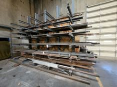 LOT - CONTENTS ONLY OF CANTILEVER MATERIAL RACK, SEE PHOTOS