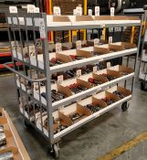 """GLOBAL INDUSTRIAL HEAVY DUTY CART, 5' X 30"""", CONTENTS NOT INCLUDED"""