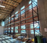LOT - (6) SECTIONS OF PALLET RACK, 10' BEAMS, 20' UPRIGHTS, CONTENTS NOT INCLUDED