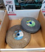 """LOT - (2) GRINDING WHEELS: (1) 8 X 1 X 1"""" AND (1) 7 X 1 X 1"""""""