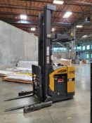 "CATERPILLAR 36V ELECTRIC STAND UP FORKLIFT, 4,000 LB CAPACITY, 3-STAGE MAST, 42"" FORKS, S/N"