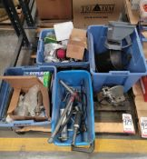 LOT - MISC SHOP ITEMS: GREASE GUNS, ARBOR PRESS, COMMERCIAL PLUMBING ITEMS, MECHANICAL &