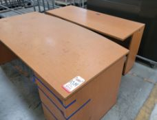 LOT - APPROX. (15) PIECES OF OFFICE FURNITURE