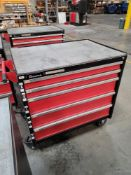 AMADA 5-DRAWER BRAKE PRESS PUNCH & DIE CABINET BY VERSATILITY TOOL WORKS, ON CASTERS, EMPTY