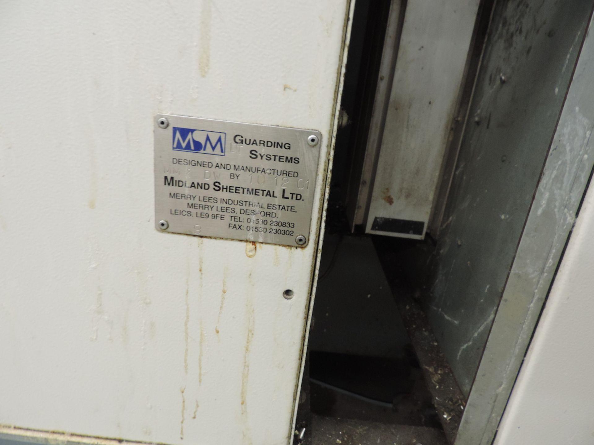 "CINCINNATI VCNC 500 VMC, F00-K10010 GE FANUC 21 I-MB CONTROL, XYZ TRAVELS: 20"" X 20"" X 20"" , 27"" X - Image 12 of 13"
