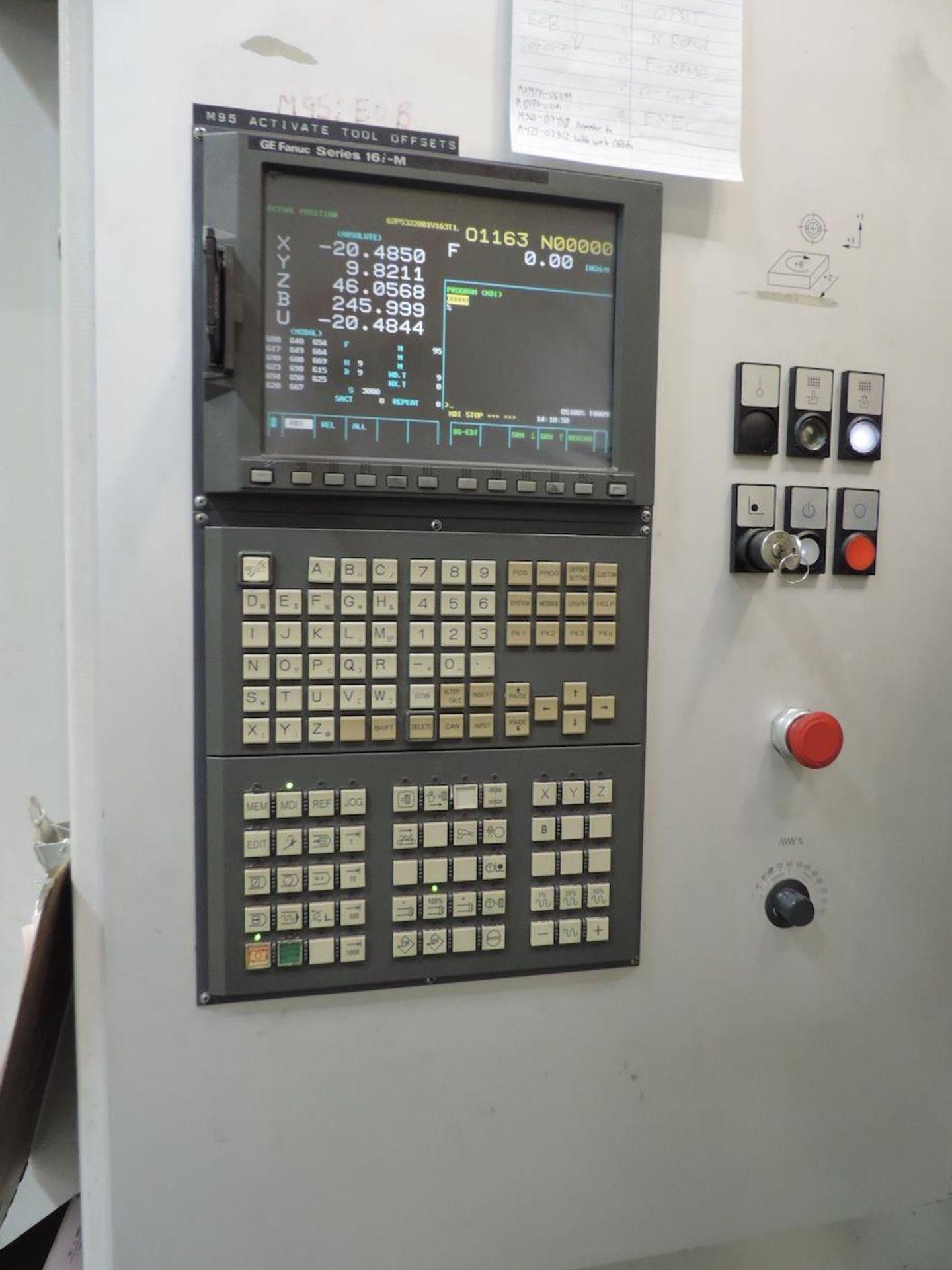 "2002 STARRAG & HECKERT CWK-630D HMC, GE FANUC 16i-M CONTROL, XYZ TRAVELS: 41"" X 39"" X 45"", 24.8"" X - Image 9 of 20"