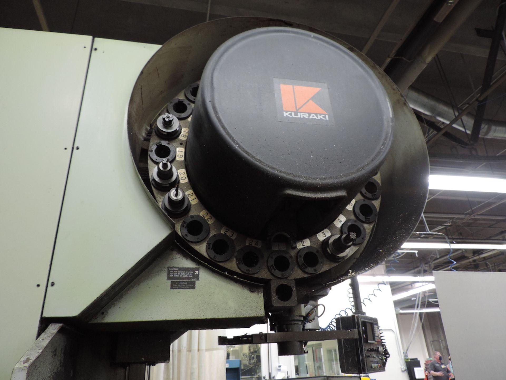 KURAKI KV-2000 KV-1600W VMC, FANUC 6M CONTROL, 3000 RPM, 50 TAPER SPINDLE, 24 ATC, XYZ TRAVELS: - Image 10 of 13