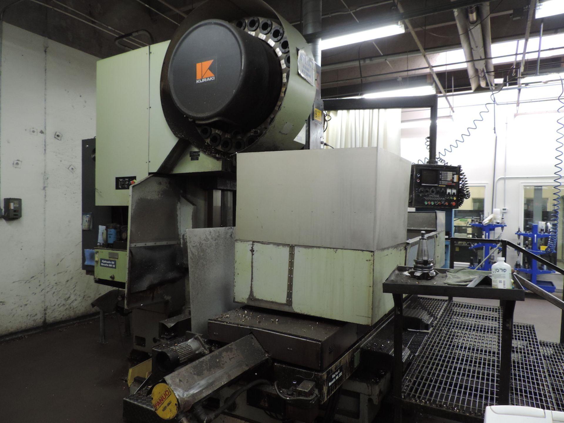 KURAKI KV-2000 KV-1600W VMC, FANUC 6M CONTROL, 3000 RPM, 50 TAPER SPINDLE, 24 ATC, XYZ TRAVELS: - Image 9 of 13