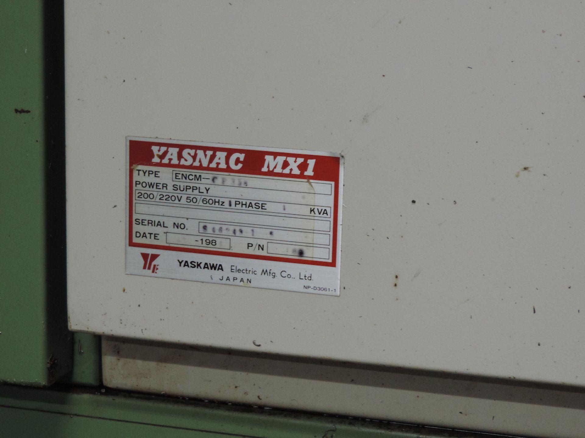 "MORI SEIKI MV-80 VMC, YASNAC MX-1 CONTROL, XYZ TRAVELS: 60"" X 31"" X 29"", 74"" X 32"" TABLE, 50 SPINDLE - Image 11 of 13"