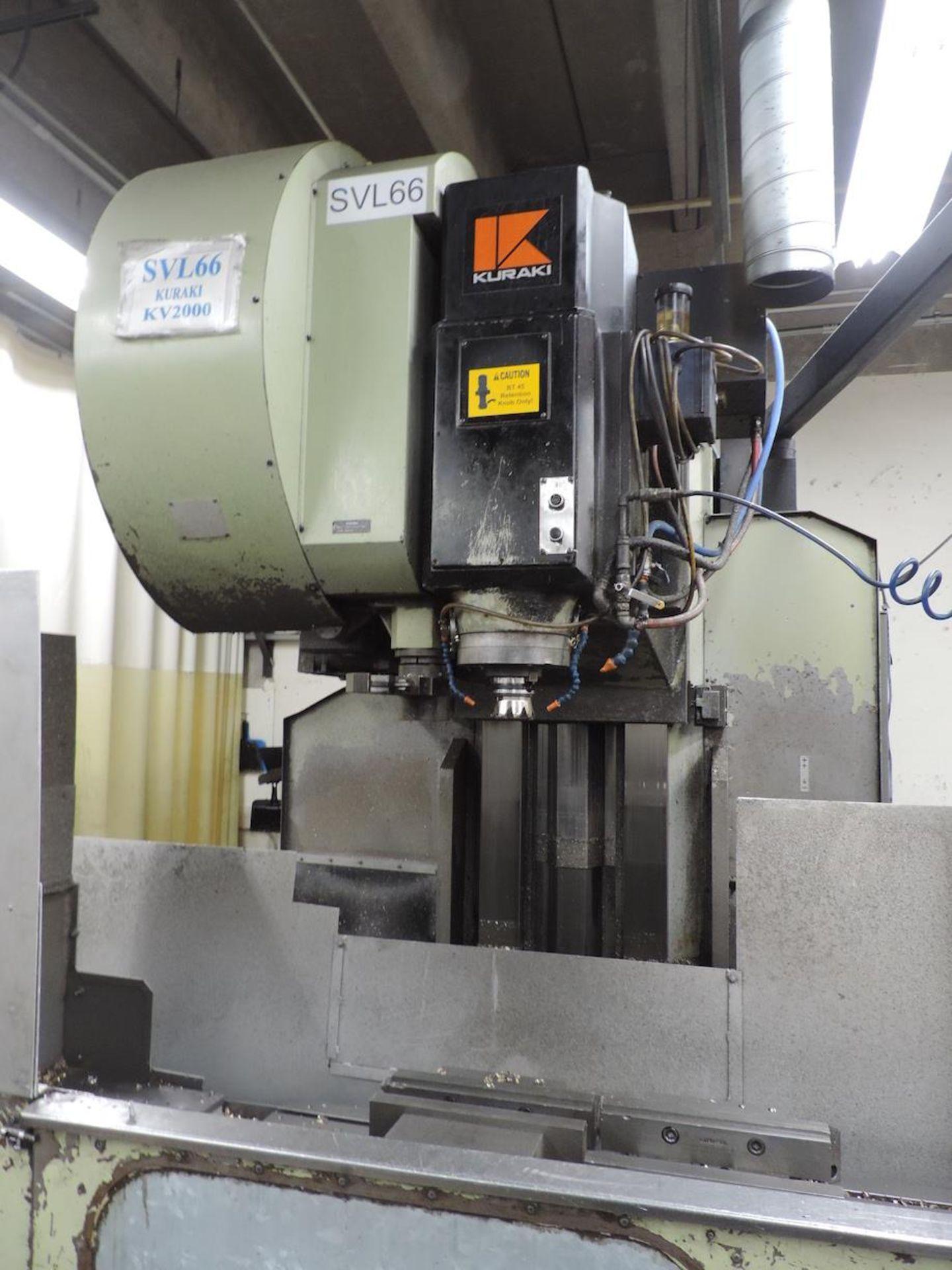 KURAKI KV-2000 KV-1600W VMC, FANUC 6M CONTROL, 3000 RPM, 50 TAPER SPINDLE, 24 ATC, XYZ TRAVELS: - Image 7 of 13