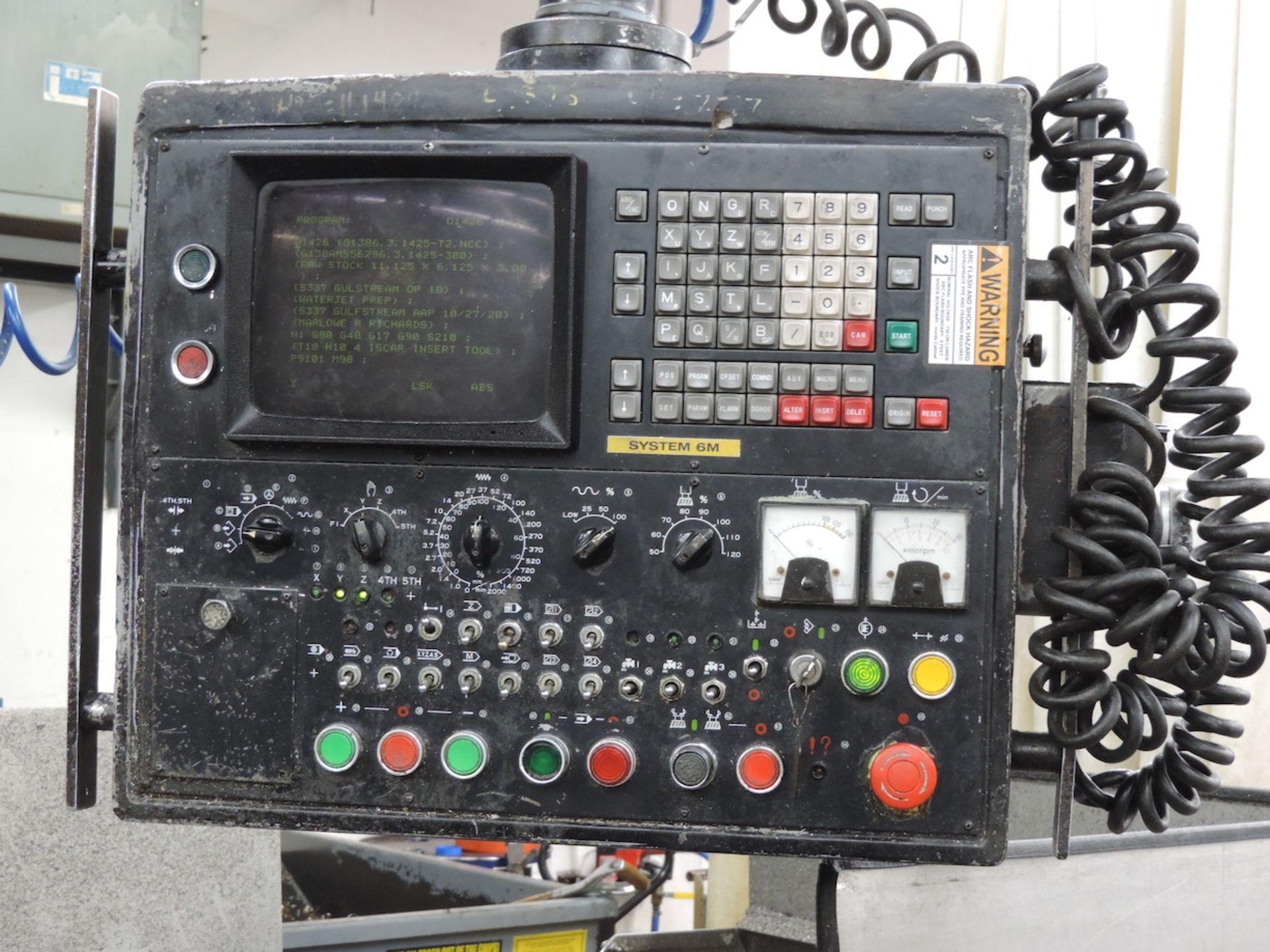 KURAKI KV-2000 KV-1600W VMC, FANUC 6M CONTROL, 3000 RPM, 50 TAPER SPINDLE, 24 ATC, XYZ TRAVELS: - Image 6 of 13